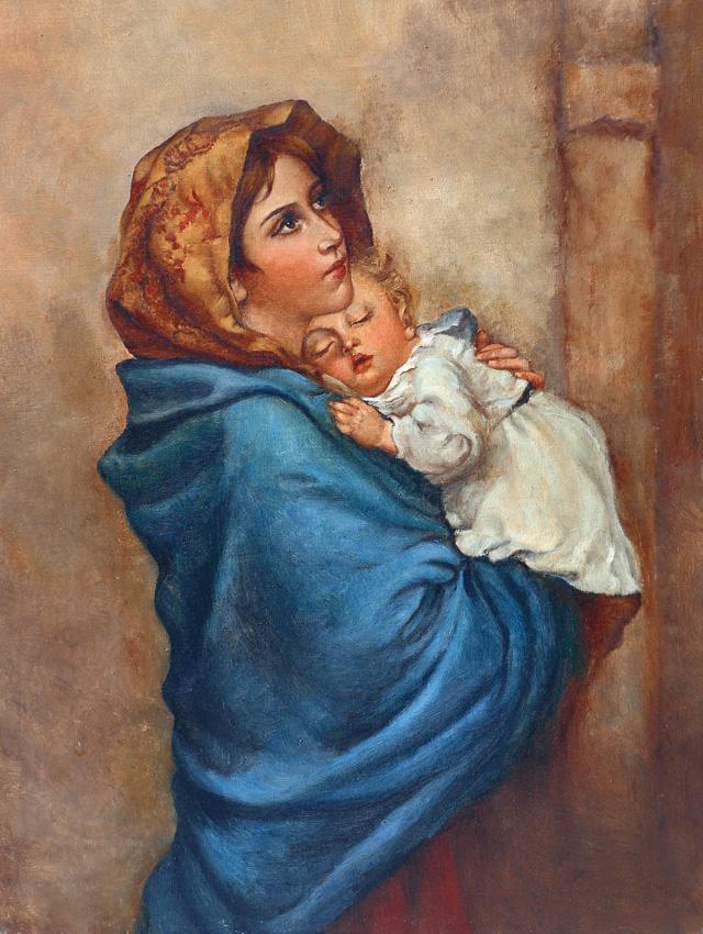 Plakat Religijny Matka Boża Cyganka