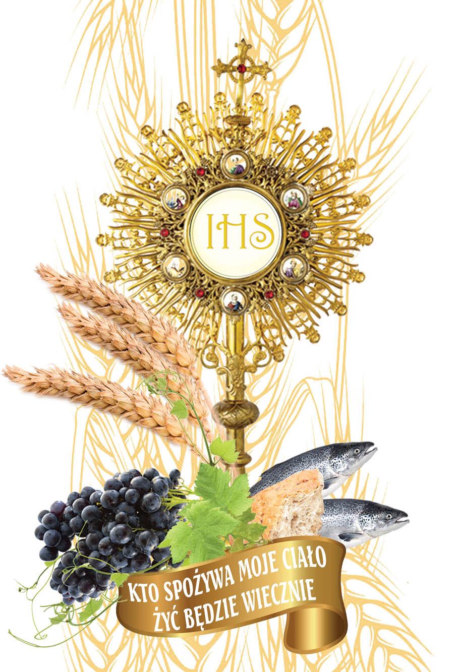 Emblemat Eucharystyczny Plakat Boże Ciało Komunia święta