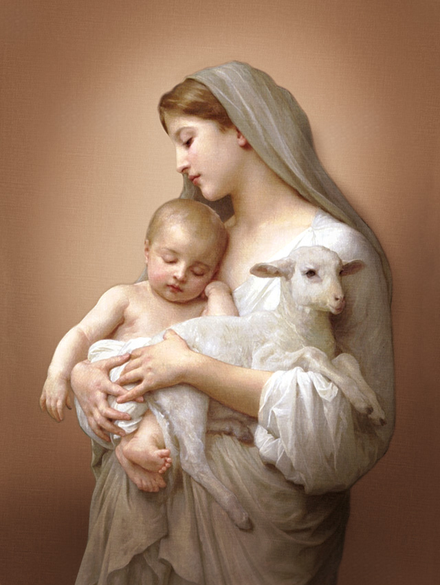 Plakat Religijny Matka Boska Z Dzieciątkiem