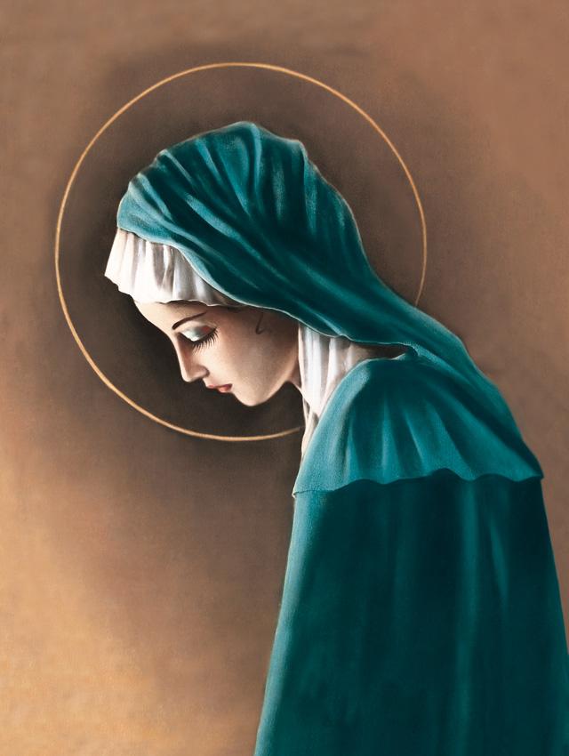 Plakat Religijny Matka Boża