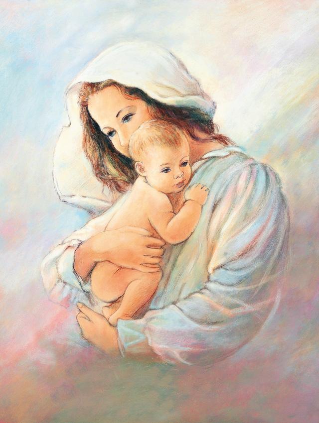 Plakat Religijny Matka Boża I Dzieciątko Jezus