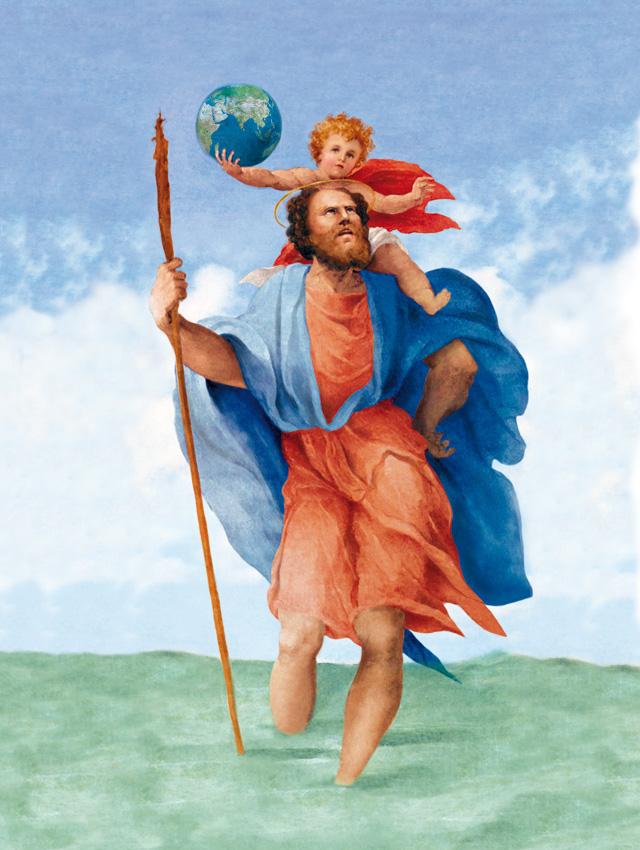 Znalezione obrazy dla zapytania święty krzysztof