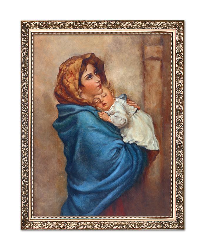 Wspaniały Obraz Matka Boża z Dzieciątkiem Jezus W071 VT16