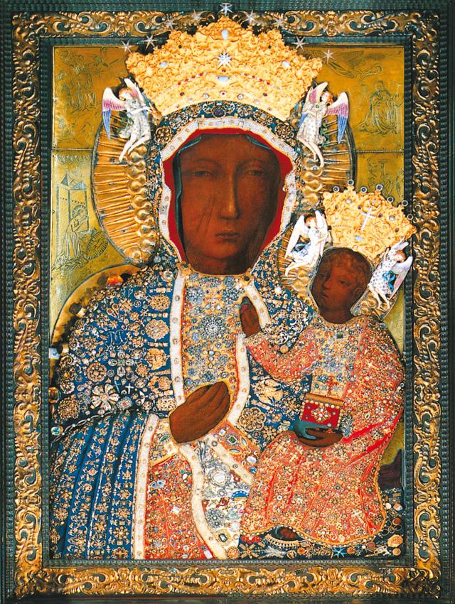 Plakat Religijny Matka Boża Częstochowska Suknia Diamentowa