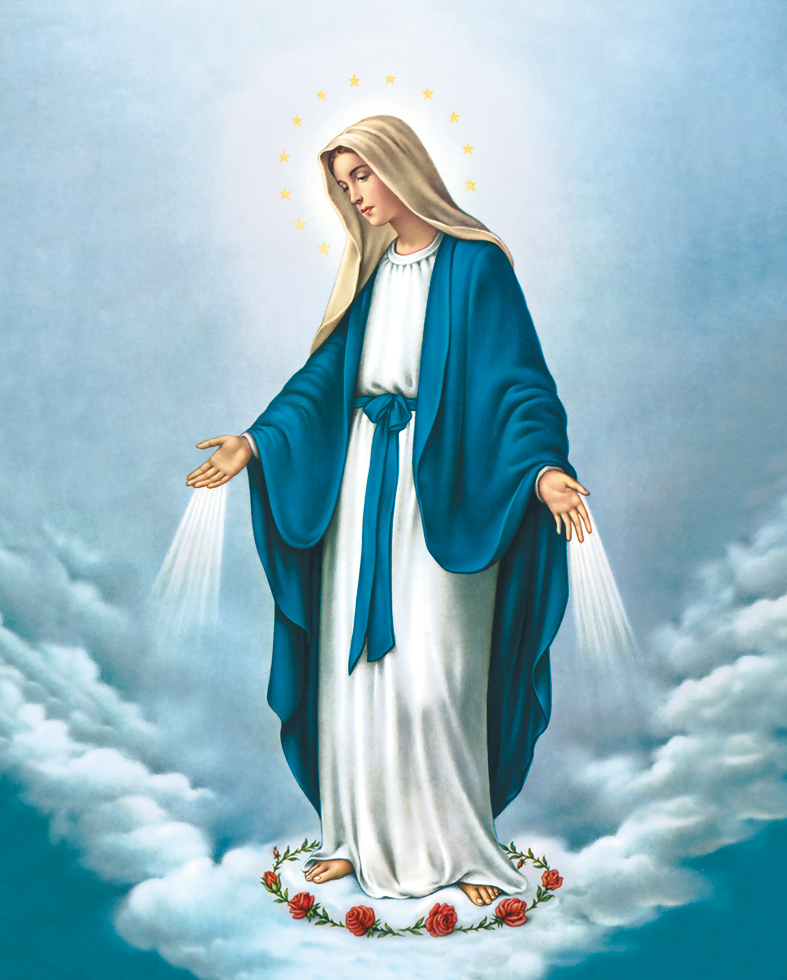 Plakat Religijny Matka Boża Niepokalana