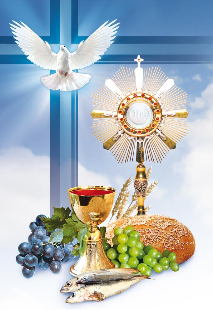 Emblemat Eucharystyczny Plakat Boże Ciało Pierwsza Komunia święta
