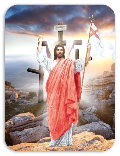 Magnesy Wielkanoc - Jezus Zmartwychwstały - 10 szt. - Kubaradewocjonalia.pl