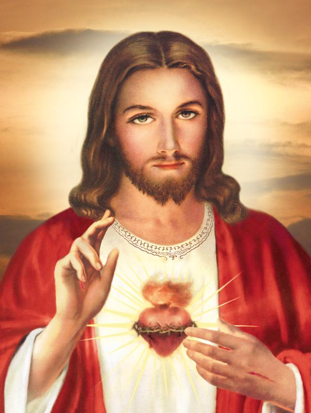 Plakat religijny wzr 001 Serce Jezusa